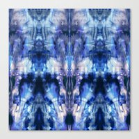 Blue Lagoon Tie-Dye Canvas Print