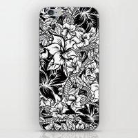 Snaky Fleur, Black 'n White iPhone & iPod Skin