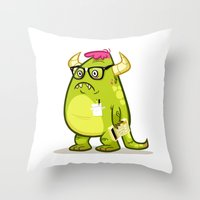 Monster Nerd Throw Pillow