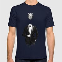 Mr. Kitty Mens Fitted Tee Navy SMALL