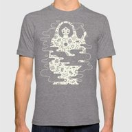 The Magician: Black Magi… Mens Fitted Tee Tri-Grey SMALL