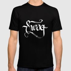Swag Mens Fitted Tee SMALL Black