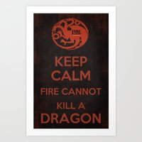 Keep Calm - Game Poster 03 Art Print