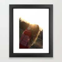 light Framed Art Print