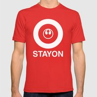 Stay On Target... Mens Fitted Tee Red SMALL