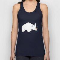 Mr. White Rhino Gets A H… Unisex Tank Top