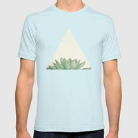 Echeveria Mens Fitted Tee Light Blue SMALL