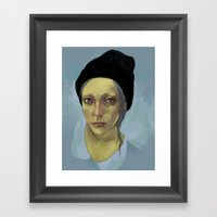 Black Hat Framed Art Print