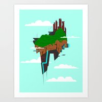 Skyward Metropolis Art Print