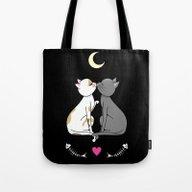 Kawaii Cats In Love Tote Bag