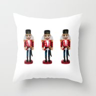 Watercolor Nutcracker Tr… Throw Pillow