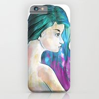 Watercolor Sea Portrait iPhone 6 Slim Case