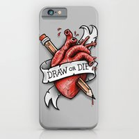 Draw or Die iPhone 6 Slim Case