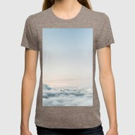 Cloudscape Womens Fitted Tee Tri-Coffee SMALL