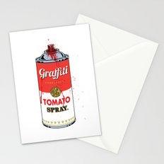 Graffiti Tomato Spray Can Stationery Cards