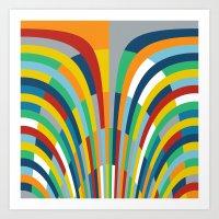 Rainbow Bricks #2 Art Print