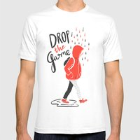 Drop The Game Mens Fitted Tee White SMALL