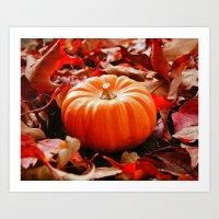 Samhain Pumpkin Art Print