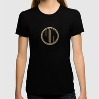 MJW- GREAT GATSBY STYLE Womens Fitted Tee Black SMALL