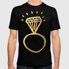 Diamond Ring SMALL Mens Fitted Tee Black