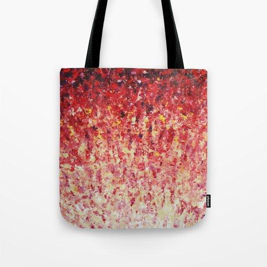 HYPNOTIC SUNRISE - Stunning Sunrise Sunset Pink Magenta Peach Crimson Bright Red Cream Tote Bag