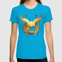 Odin - the Ruler Womens Fitted Tee Teal SMALL