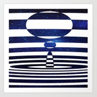 Art Print featuring Illusion Of Space by Cs025