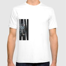 The Dark Knight Mens Fitted Tee SMALL White