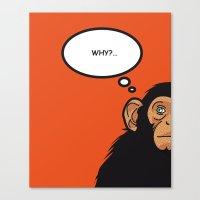Pop Icon - Bonobo Canvas Print