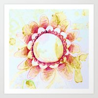 tea flower Art Print