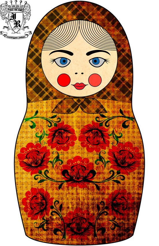 Flower Matryoshka/Nesting Doll Canvas Print