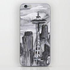Seattle Skyline Watercolor Space Needle iPhone & iPod Skin