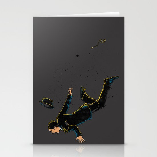 Falling Time Stationery Card