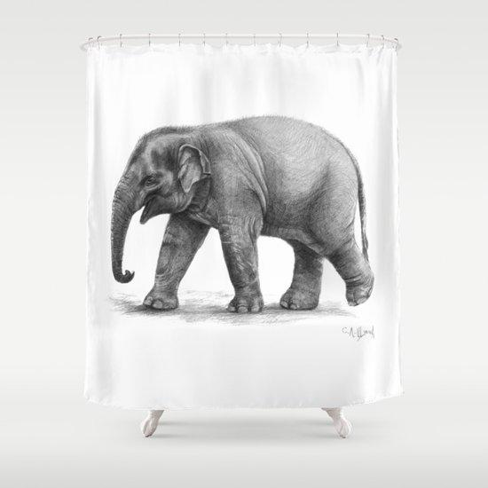 Elephant Baby G092 Shower Curtain