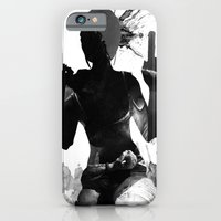 iPhone Cases featuring Lara Croft by Ryan Swannick