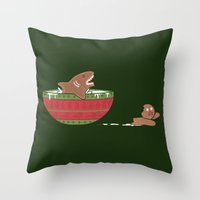 Gingerbread Jaws Throw Pillow