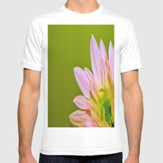 Pink Daisy SMALL White Mens Fitted Tee