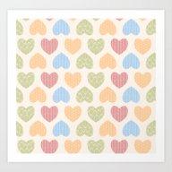 Heart Pattern 02 Art Print