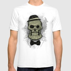 Old Skull SMALL White Mens Fitted Tee