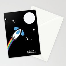 A Rocket to the Moon Stationery Cards