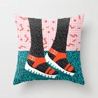 Kicks - Throwback Retro … Throw Pillow