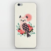 Owl and Blossoms iPhone & iPod Skin