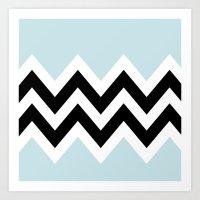 LIGHT BLUE COLORBLOCK CH… Art Print