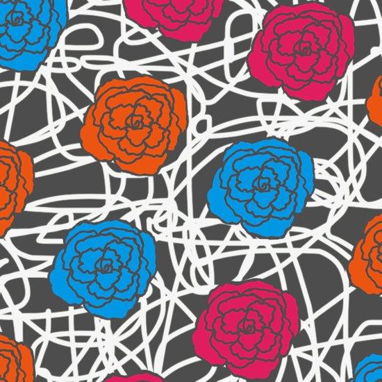 MULTI ROSE SQUIGGLE Art Print