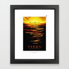Titan : NASA Retro Solar System Travel Posters Framed Art Print