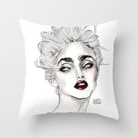 Throw Pillow featuring Vanity fair 1986  by Lucas David