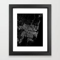 Sydney Map Australia Framed Art Print