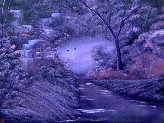 Purple Rain Art Print