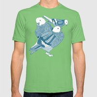 Pigeons  Mens Fitted Tee Grass SMALL