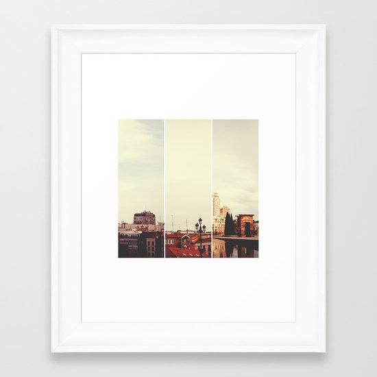 Above Madrid Framed Art Print